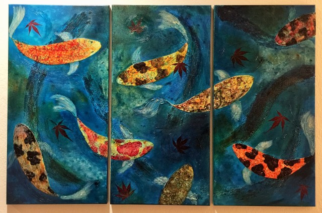 Acrylic and Yupo on Canvas (Three 12x24 panels) ~~ $450